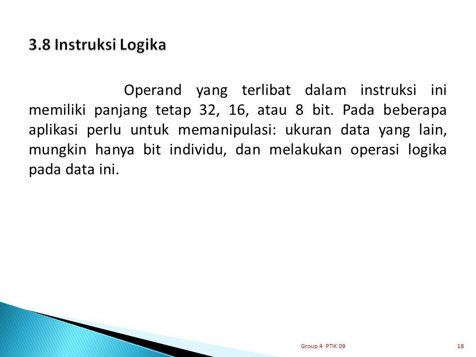3.8 Instruksi Logika
