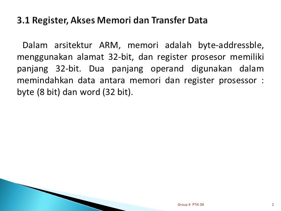 3.1 Register, Akses Memori dan Transfer Data
