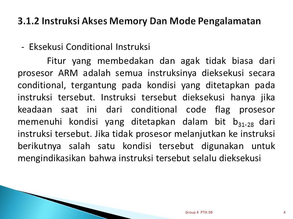 3.1.2 Instruksi Akses Memory Dan Mode Pengalamatan
