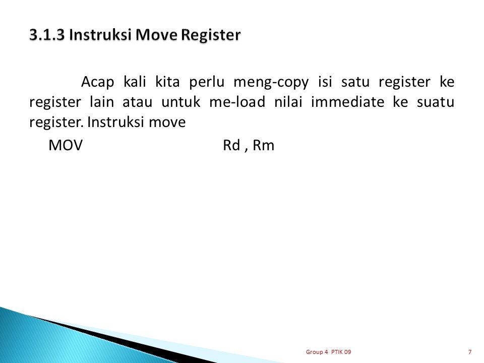 3.1.3 Instruksi Move Register