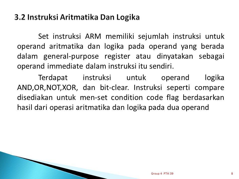3.2 Instruksi Aritmatika Dan Logika