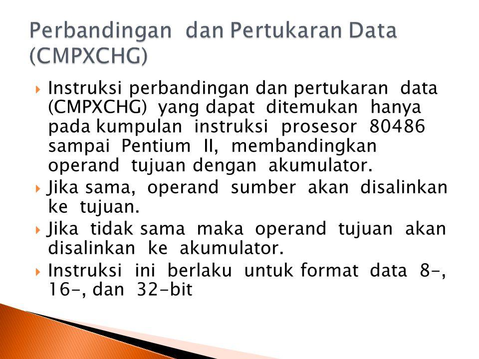 Perbandingan dan Pertukaran Data (CMPXCHG)