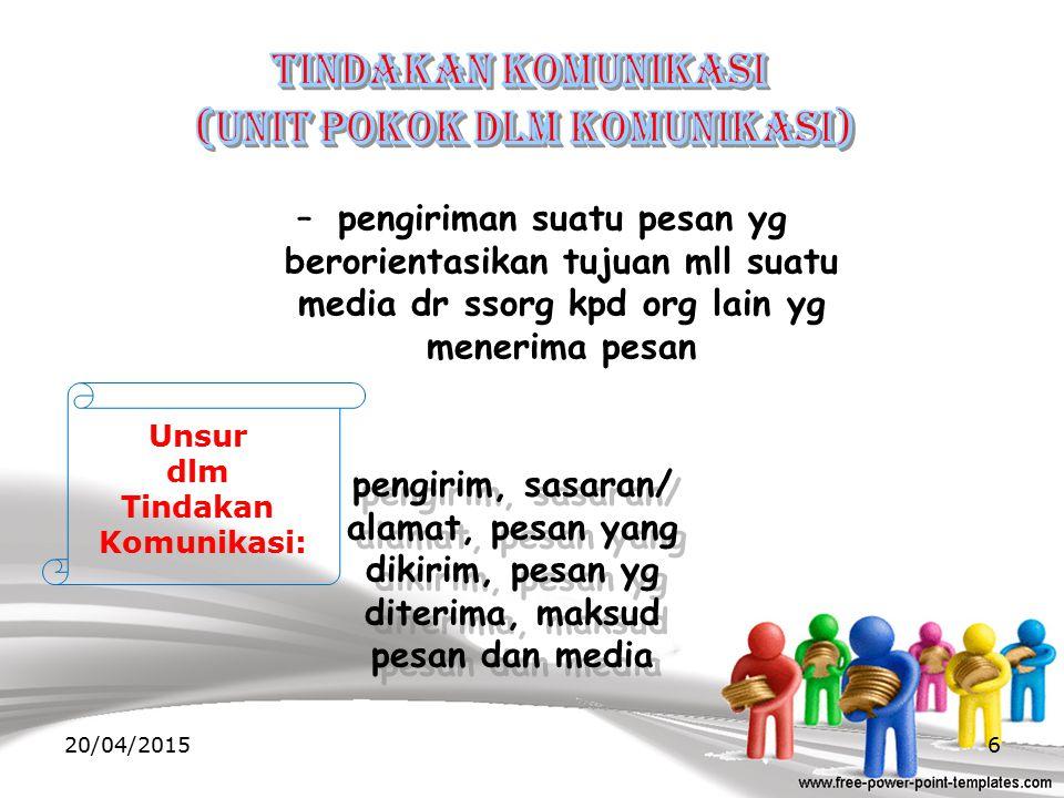 (unit pokok dlm komunikasi)
