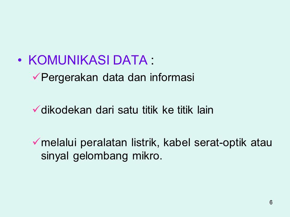 KOMUNIKASI DATA : Pergerakan data dan informasi