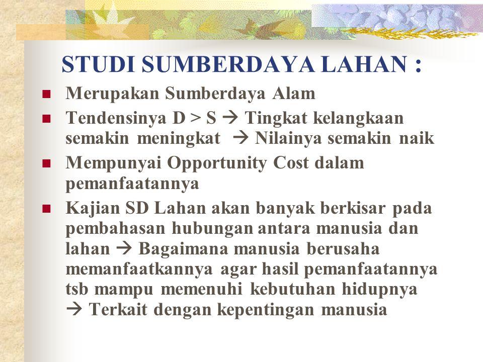 STUDI SUMBERDAYA LAHAN :