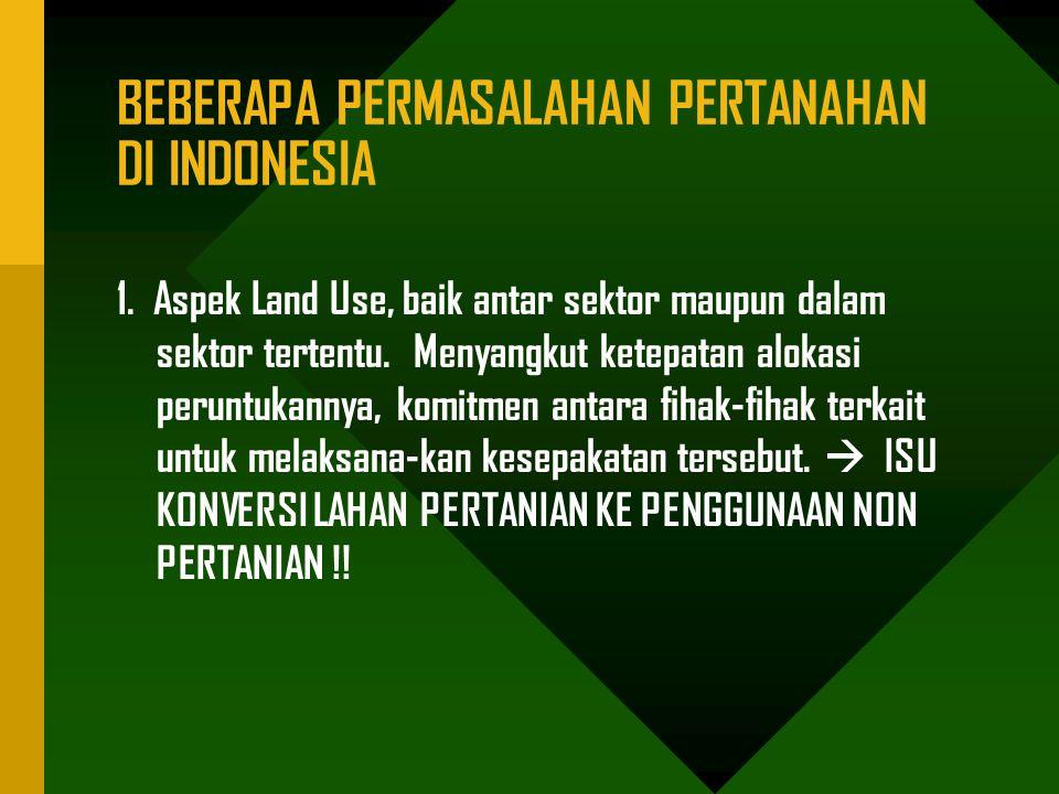 BEBERAPA PERMASALAHAN PERTANAHAN DI INDONESIA
