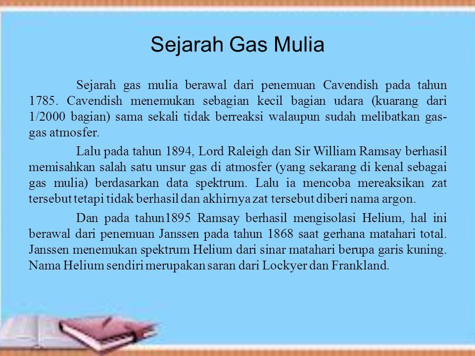 Sejarah Gas Mulia