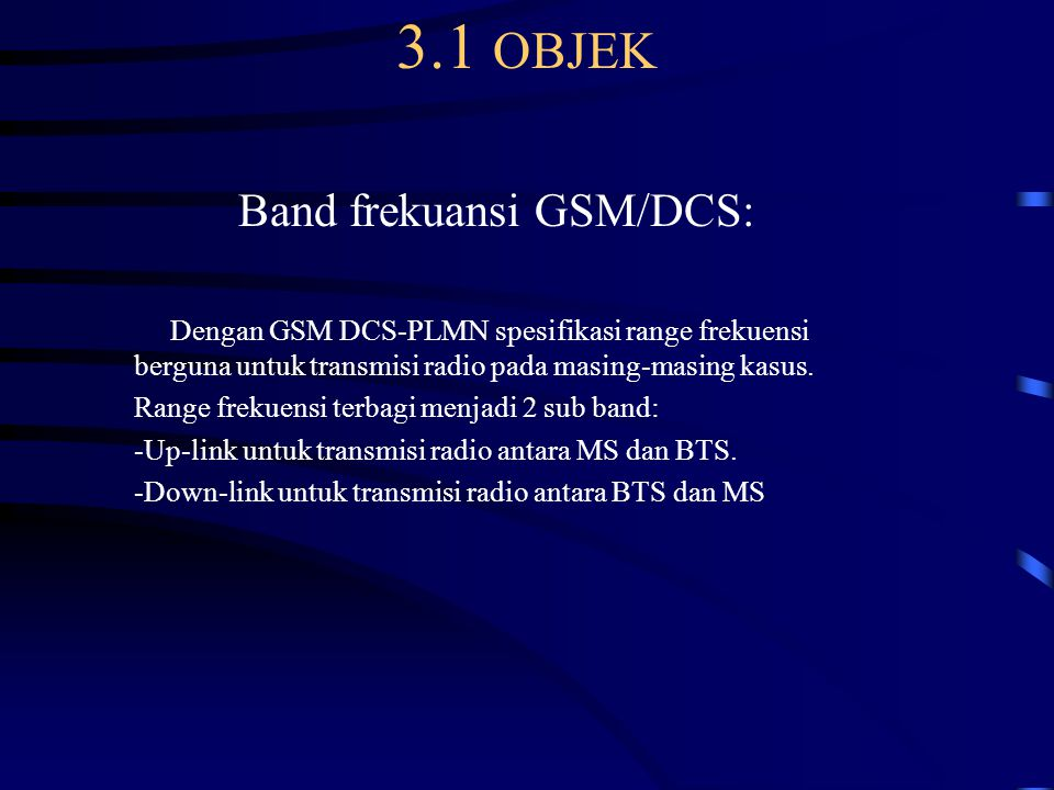 Band frekuansi GSM/DCS: