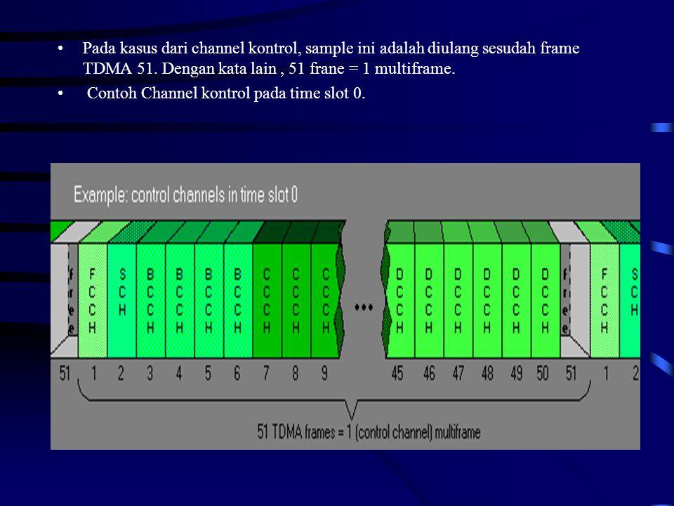 Pada kasus dari channel kontrol, sample ini adalah diulang sesudah frame TDMA 51. Dengan kata lain , 51 frane = 1 multiframe.