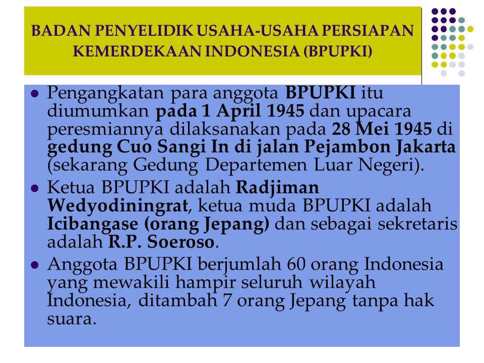 BADAN PENYELIDIK USAHA-USAHA PERSIAPAN KEMERDEKAAN INDONESIA (BPUPKI)