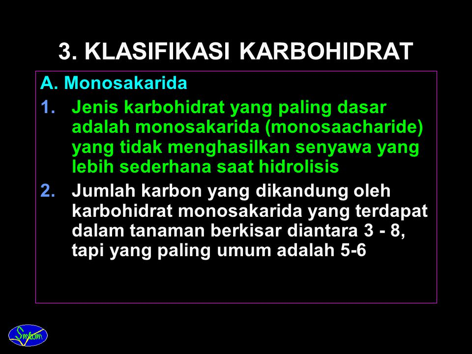 3. KLASIFIKASI KARBOHIDRAT