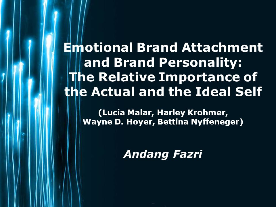 Emotional Brand Attachment and Brand Personality:
