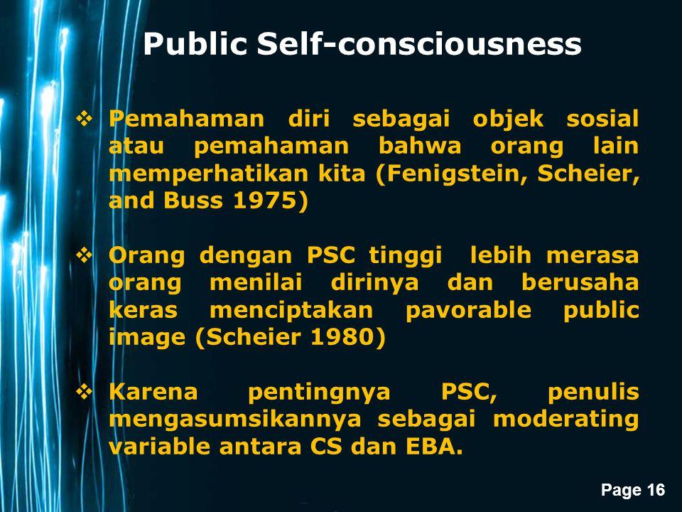 Public Self-consciousness