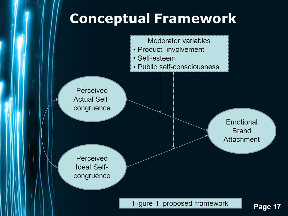 Conceptual Framework Moderator variables Product involvement