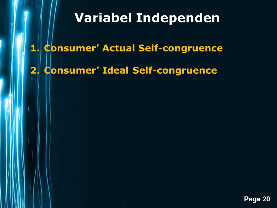 Variabel Independen Consumer' Actual Self-congruence