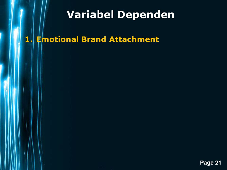 Variabel Dependen Emotional Brand Attachment