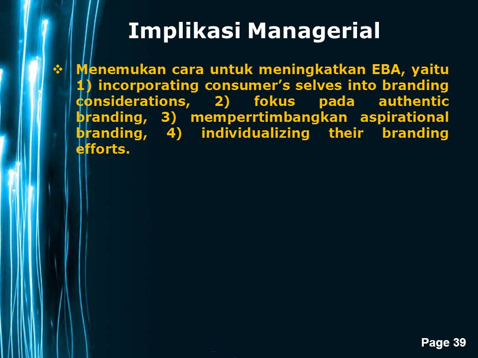Implikasi Managerial