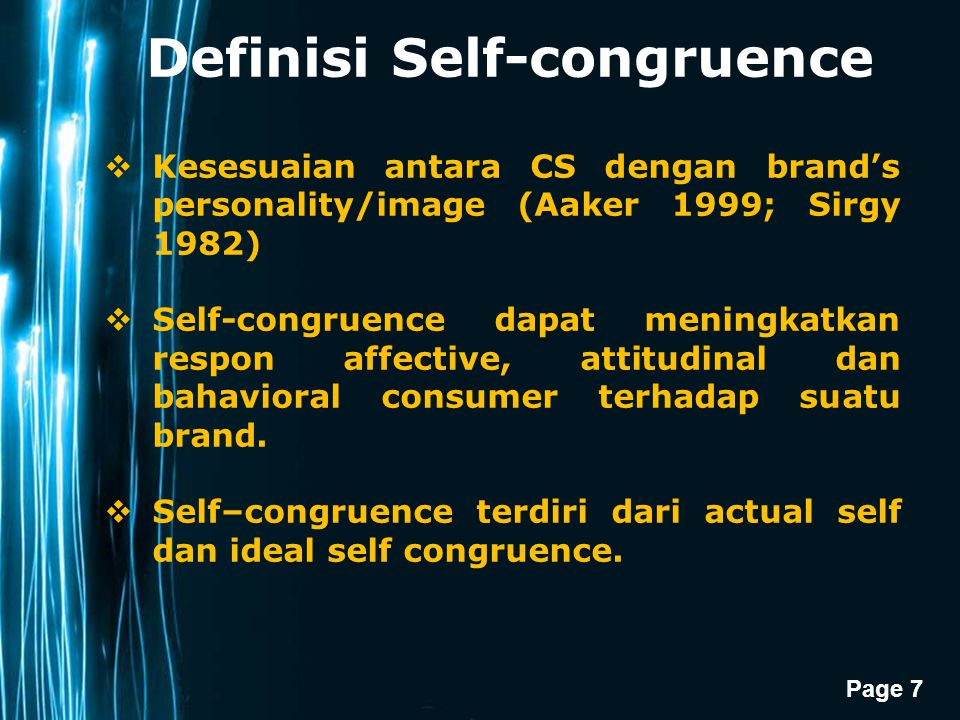 Definisi Self-congruence