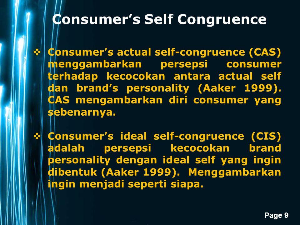 Consumer's Self Congruence