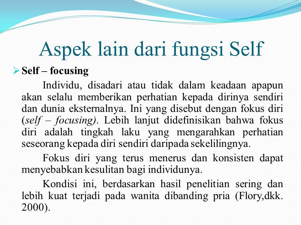 Aspek lain dari fungsi Self
