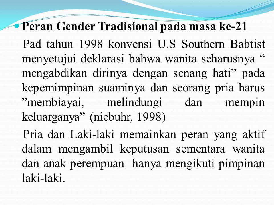 Peran Gender Tradisional pada masa ke-21