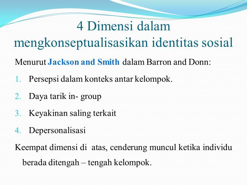 4 Dimensi dalam mengkonseptualisasikan identitas sosial