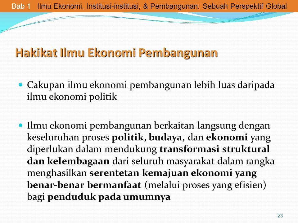 Hakikat Ilmu Ekonomi Pembangunan