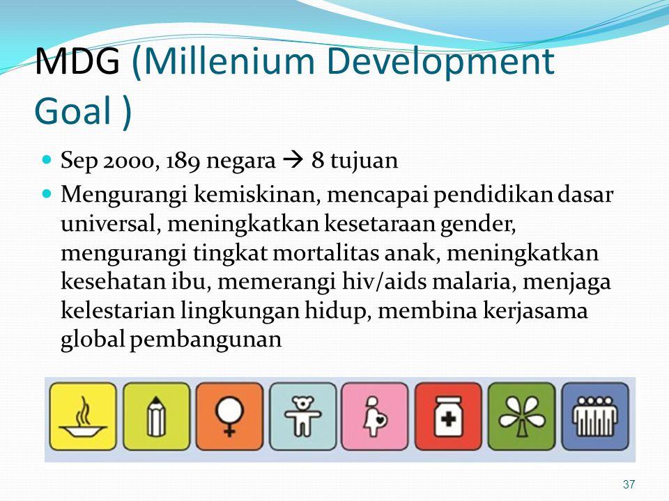 MDG (Millenium Development Goal )