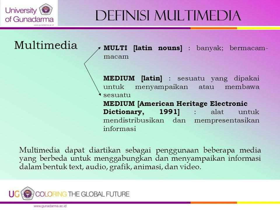 Definisi Multimedia Multimedia