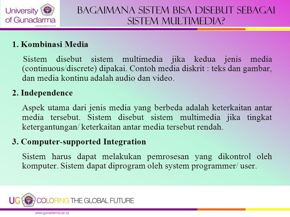 Bagaimana sistem bisa disebut sebagai sistem multimedia