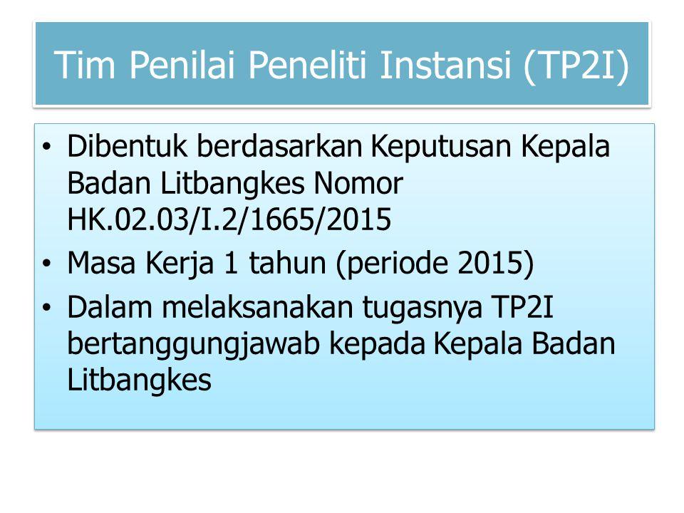 Tim Penilai Peneliti Instansi (TP2I)