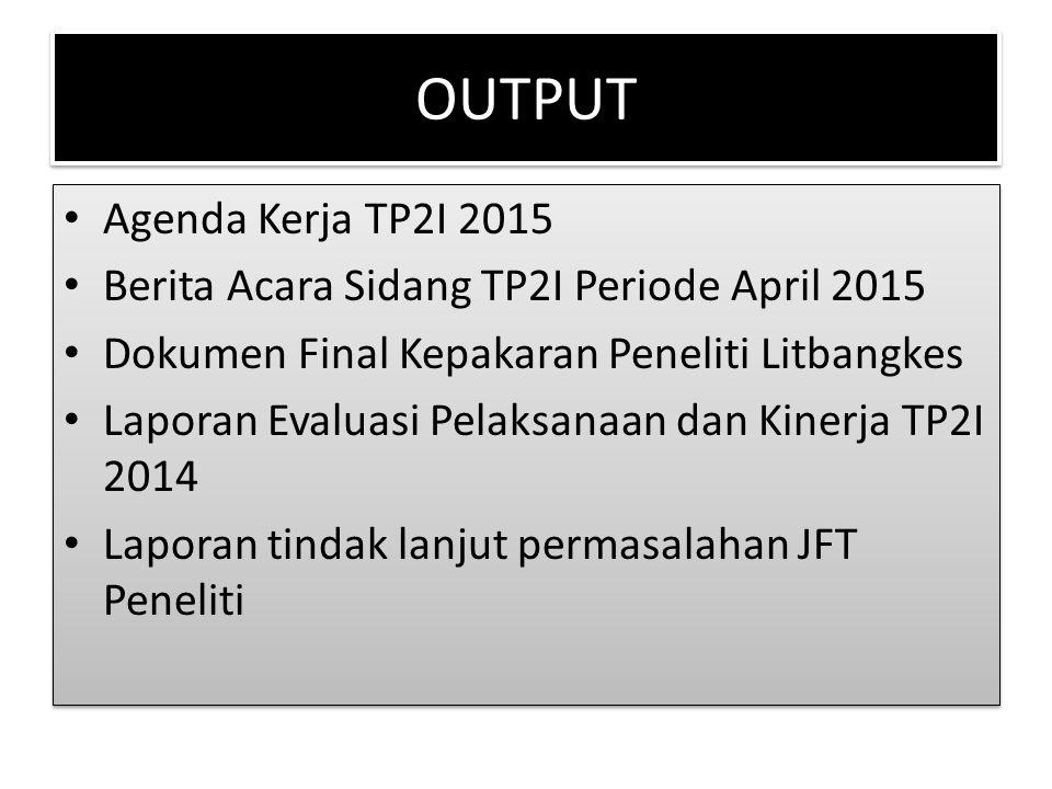 OUTPUT Agenda Kerja TP2I 2015