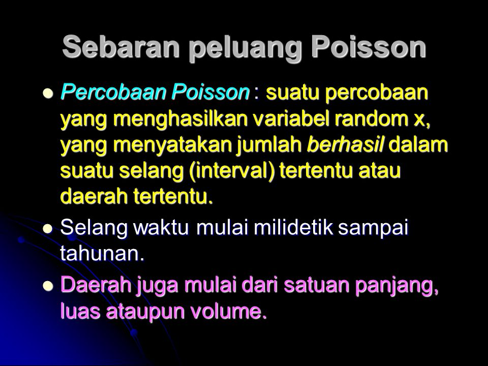 Sebaran peluang Poisson