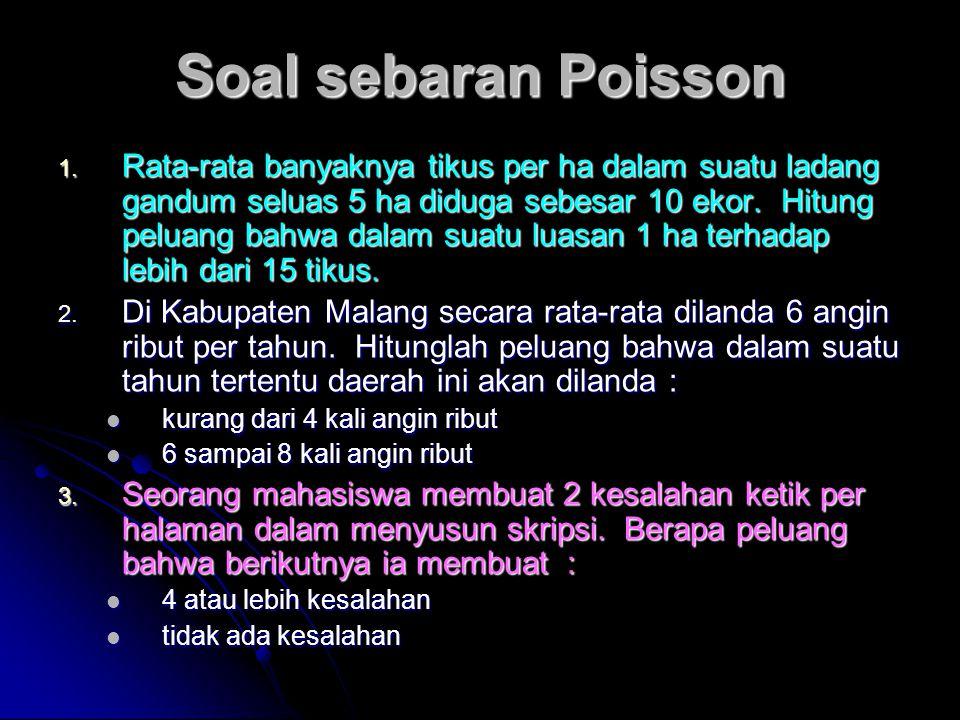 Soal sebaran Poisson