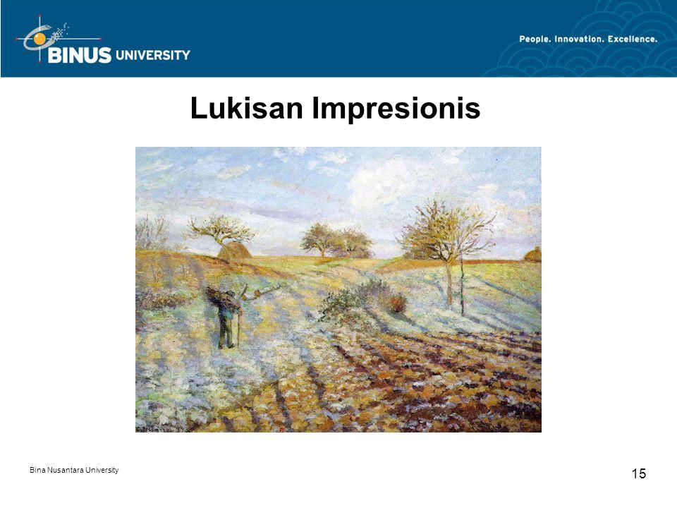 Lukisan Impresionis Bina Nusantara University