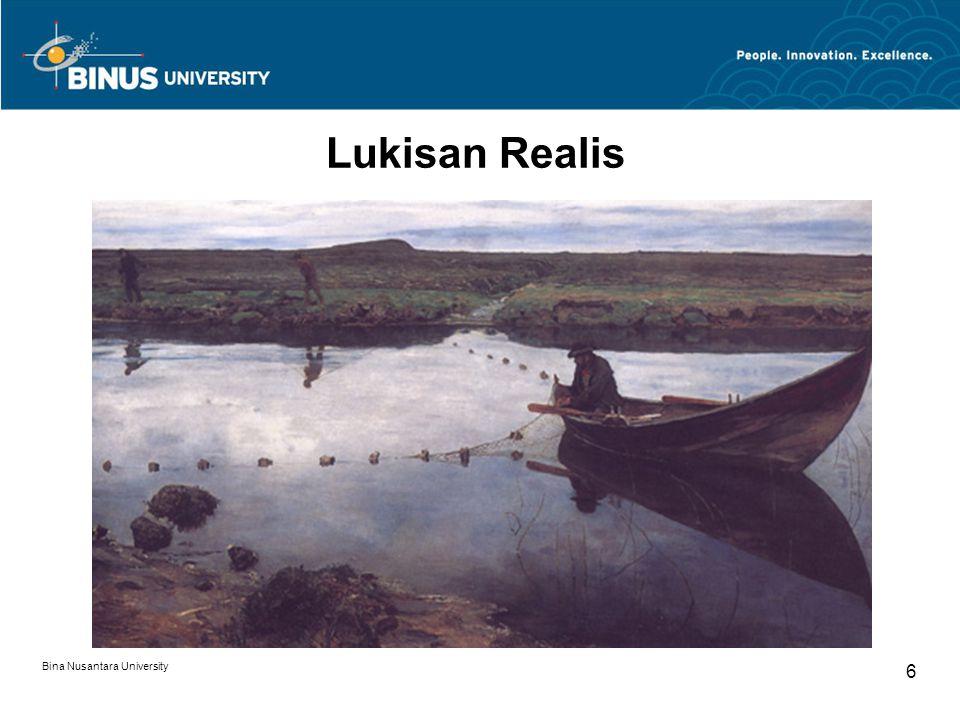 Lukisan Realis Bina Nusantara University