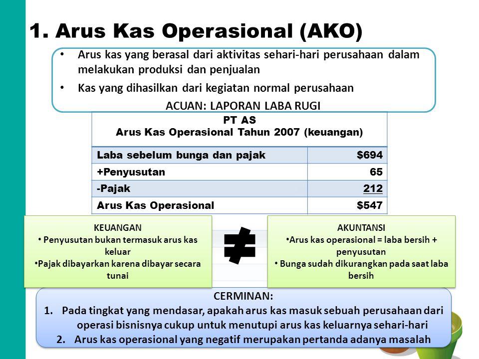 1. Arus Kas Operasional (AKO)