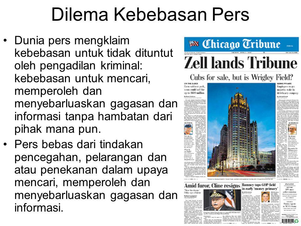 Dilema Kebebasan Pers