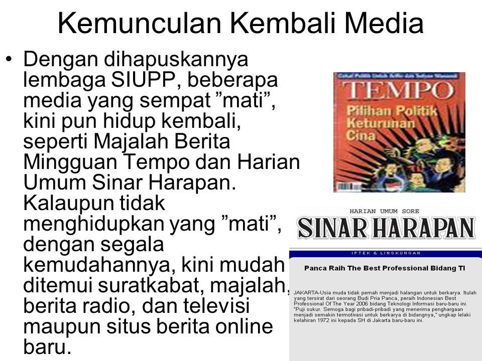Kemunculan Kembali Media