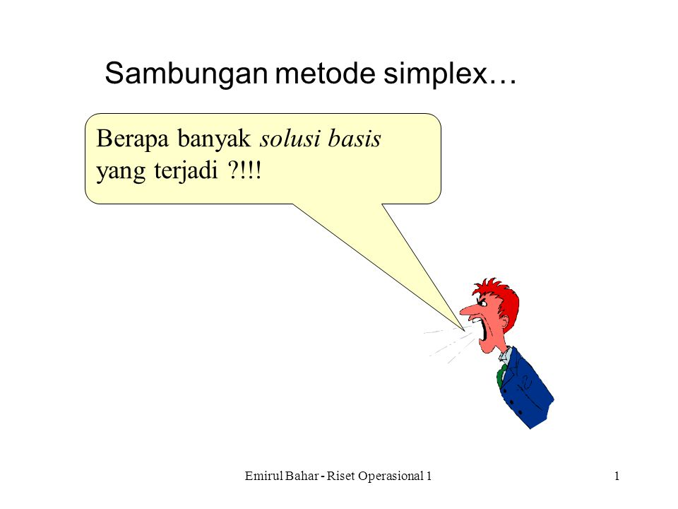 Sambungan metode simplex…