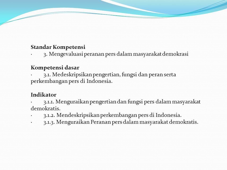 Standar Kompetensi · 3.