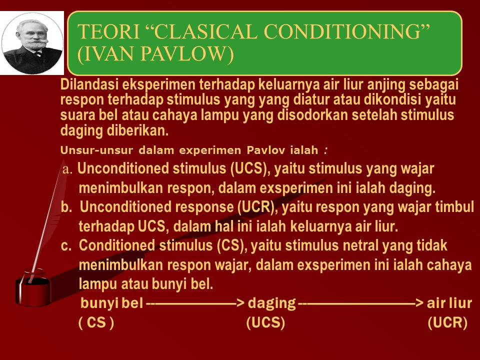 TEORI CLASICAL CONDITIONING (IVAN PAVLOW)
