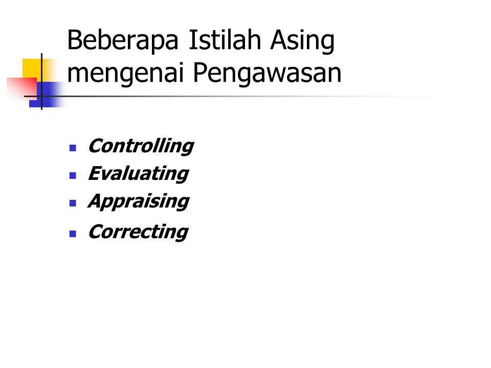 Beberapa Istilah Asing mengenai Pengawasan