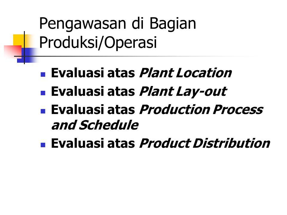Pengawasan di Bagian Produksi/Operasi