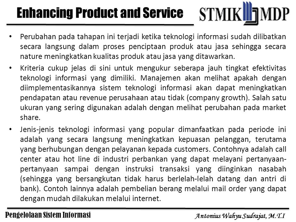 Enhancing Product and Service