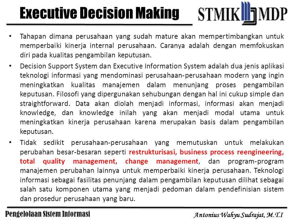 Executive Decision Making