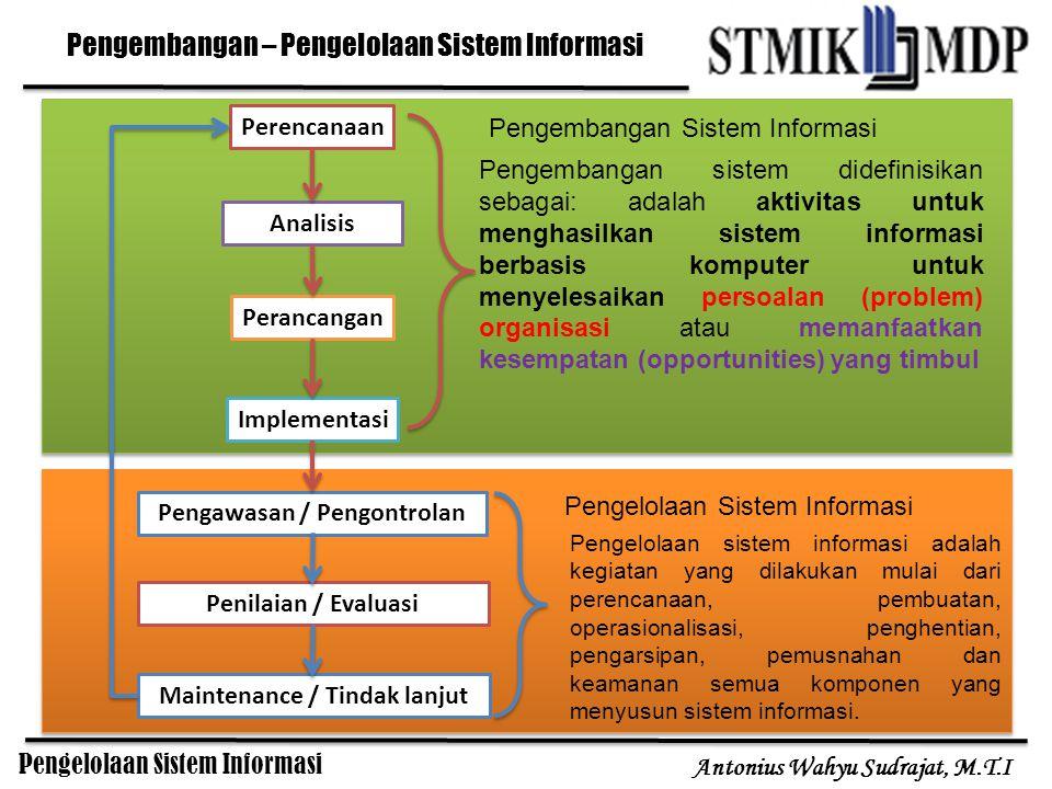 Pengembangan – Pengelolaan Sistem Informasi