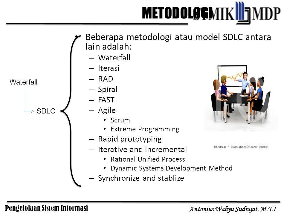 METODOLOGI Beberapa metodologi atau model SDLC antara lain adalah: