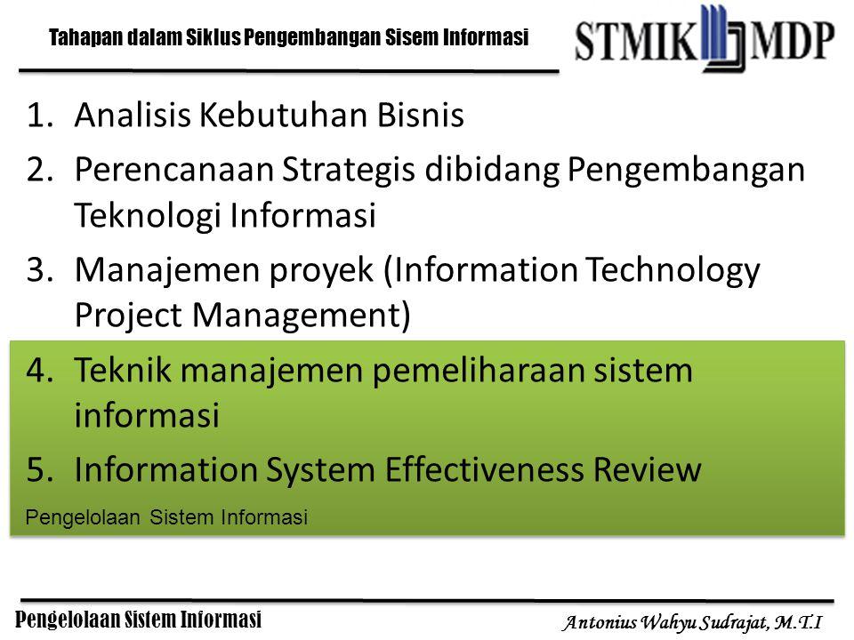 Tahapan dalam Siklus Pengembangan Sisem Informasi