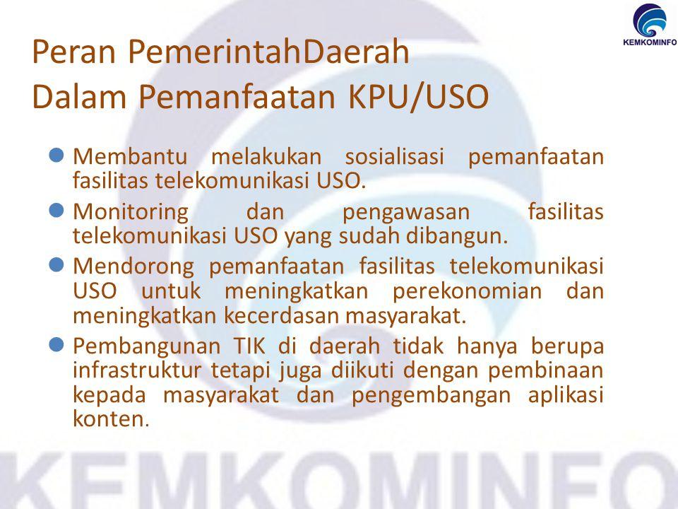 Peran PemerintahDaerah Dalam Pemanfaatan KPU/USO